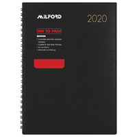 2020 Milford Boston Diary A5 Day to Page Wiro Black 441033