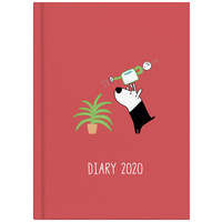 2020 Milford Dog & Bird Diary A5 Week to View Red 441604