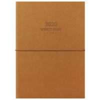2020 Milford Dual Diary Notebook A5 Week to View Tan 441595