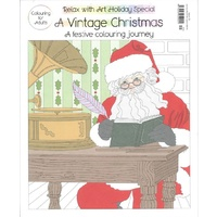 Colouring for Adults: A Vintage Christmas Issue 29 Relax with Art Magazine