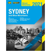 UBD Gregory's Street Directory Sydney & Blue Mountains 2021 57th Ed
