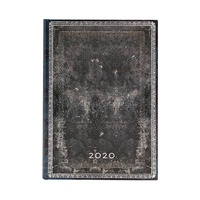 2020 Paperblanks Diary Midnight Steel Midi Day to Page