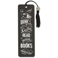 Pauper Press Beaded Bookmark Coffee and Books