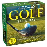 2019 Calendar, Golf Tip-A-Day Day-to-Day Boxed Desk Calendar, Andrews McMeel Publishing