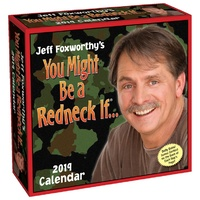 2019 Calendar Jeff Foxworthy's You Might Be a Redneck Day-to-Day Boxed Desk Calendar