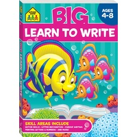 School Zone Big Learn to Write Workbook (Ages 4-8) NEW with Free Postage!