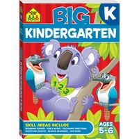 School Zone Big Kindergarten Workbook (Ages 5-6) NEW with Free Postage!