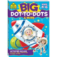 School Zone Big Dot-to-Dots Activity Book (Ages 4-6) NEW with Free Postage!