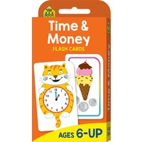 School Zone Flash Cards - Time & Money by Hinkler Books NEW Free Shipping!