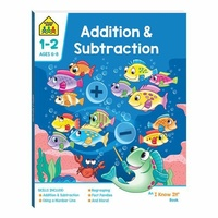 School Zone Addition & Subtraction (Ages 6-8) by Hinkler NEW Free Shipping!