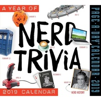 2019 Calendar, Year of Nerd Trivia Day-to-Day Boxed Desk Calendar, Browntrout