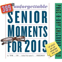 2019 Calendar, 389 Unforgettable Senior Moments Day-to-Day Boxed Desk Calendar