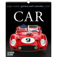 Car Page-A-Week Gallery Deluxe 2020 Wall Calendar by Workman