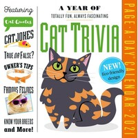 2021 Calendar A Year of Cat Trivia Page-A-Day Boxed by Workman W09096