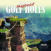 World's Toughest Golf Holes 2020 Square Wall Calendar by Browntrout