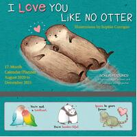 2021 Calendar I Love You Like No Otter Family Planner Square Wall S11577