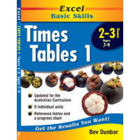 Excel Basic Skills: Times Tables 1 Years 2-3