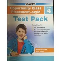 Excel Test Zone Opportunity Class Placement-style Year 4 Test Pack 9781741252330