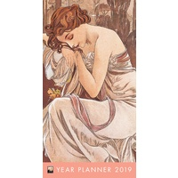 2019 Alphonse Mucha Pocket Year Planner by Flame Tree includes Postage