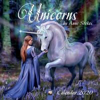 2020 Unicorns by Anne Stokes Square Wall Calendar by Flame Tree