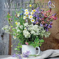 Wild Flowers 2020 Square Wall Calendar by Gifted Stationery
