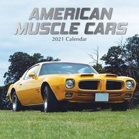 2021 Calendar American Muscle Cars Square Wall By The Gifted Stationery GSC20109