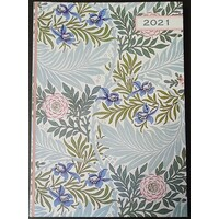 William Morris 'Larkspur' 2021 A6 Flexi Diary By Gifted Stationery
