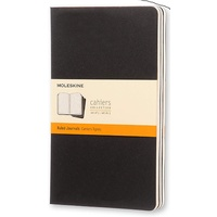 Moleskine Cahier Large Ruled Black Notebook Set of 3, Free Postage