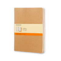 Moleskine Cahier Journal, Extra Large Ruled Kraft Brown, Set of 3