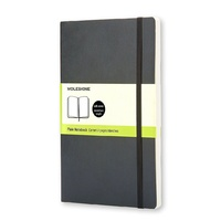 Moleskine Classic Soft Cover Plain Large Notebook Black