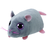 Teeny Tys Beanie Boos - Miko the Grey Mouse- Brand New Soft Toy