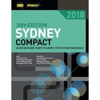 Sydney Compact Street Directory 2018 30th Ed UBD Gregory, Paperback, NEW