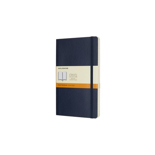 Moleskine Classic Soft Cover Notebook, Large, Ruled, Saphire Blue,