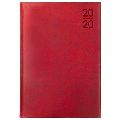 2020 Debden Silhouette Diary A4 Week to View Red S4700.P33-20