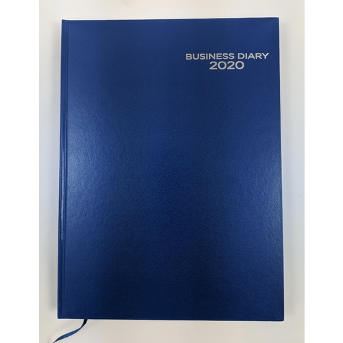 Diary 2020 Ozcorp Business A4 Week to View Blue D483