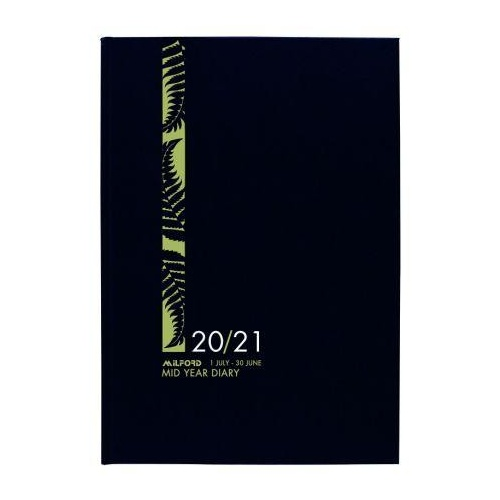 Diary 2020/21 Financial Year Milford Hard Cover A4 Week to View Black 441347