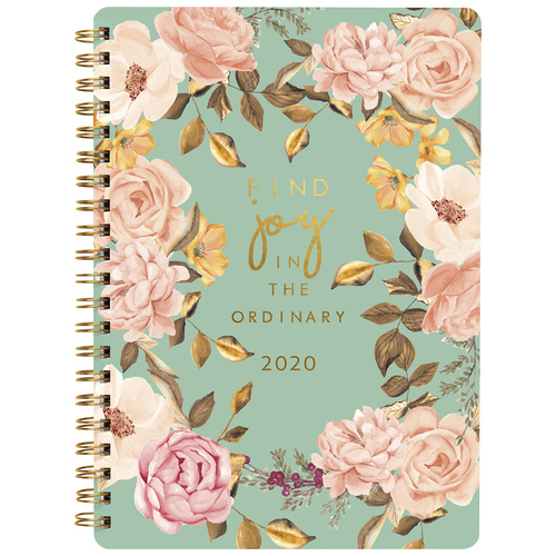 2020 Milford Find Joy Diary A5 Week to View Teal