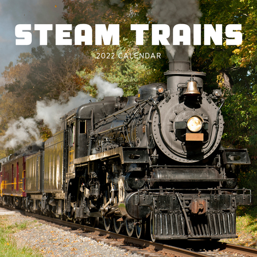 Steam Trains 2019 Square Wall Calendar by Paper Pocket, Free Postage