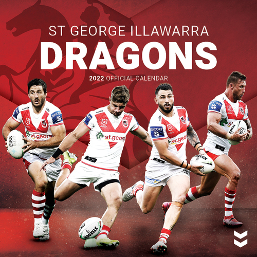 2020 NRL St George Illawarra Dragons Square Wall Calendar by Paper Pocket 18136