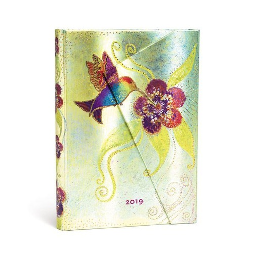 Diary 2019 Paperblanks Hummingbird Midi Day to a Page 130x180mm FREE P&H