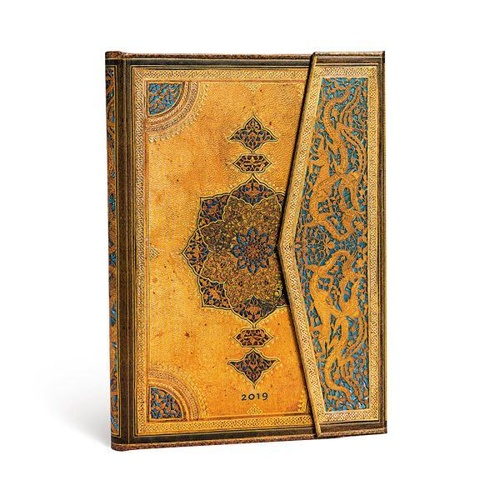 Diary 2019 Paperblanks Safavid Midi VERTICAL Week To View 13x18cm FREE P&H