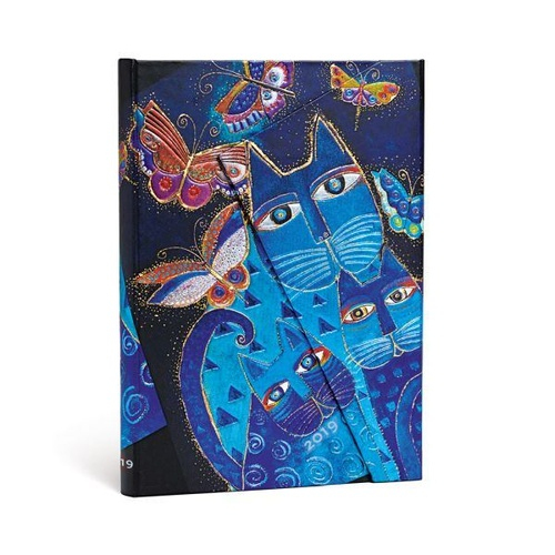 Diary 2019 Paperblanks Blue Cats & Butterflies Midi VERSO WTV+Note 13x18cm