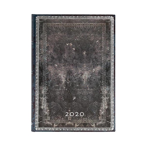 2020 Paperblanks Diary Midnight Steel Midi Verso Week to View + Notes