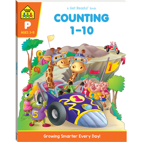 School Zone Counting 1-10 A Get Ready Book! (Ages 3-5)