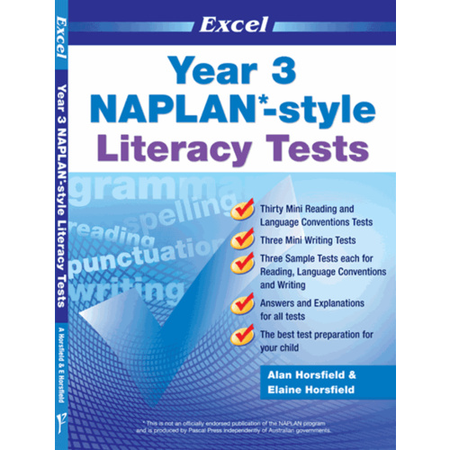 Excel NAPLAN-style Literacy Tests Year 3