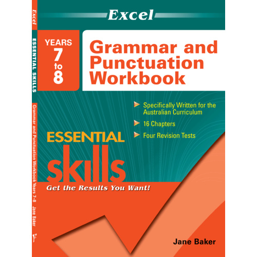 Excel Essential Skills: Grammar and Punctuation Workbook Years 7-8