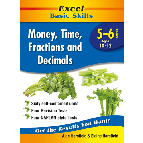 Excel Basic Skills: Money, Time, Fractions and Decimals Years 5-6