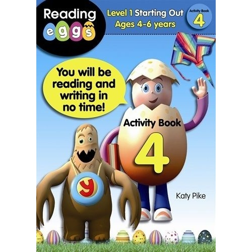 ABC Reading Eggs Starting Out - Activity Book 4 - Ages 4-6 NEW 9781742150482