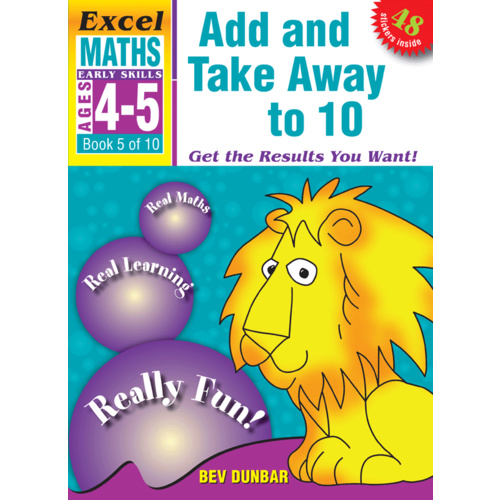 Excel Early Skills: Maths Book 5 - Add and Take Away to 10 (Age 4-5)