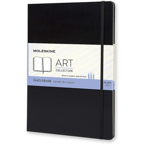 Moleskine Folio Art A4 Sketchbook, Plain, Black, Hard Cover CUSTOMER ORDERS ONLY